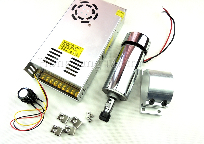 DC12-48V 0.4kw spindle motor ER11 chuck CNC 400W Spindle Motor + 52mm mount bracket + Power Supply speed governor For DIY CNC shop promotions free 1pcs 3 175 1 8 chuck 10pcs dc 12 57 cnc 200w spindle motor mount bracket 12 110vdc for engraving carving