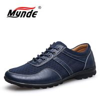 MYNDE Summer Men Shoes 2018 Fashion Men Loafers Original Brand Cool Mesh With Leather Moccasins Casual Shoes Men Big Size 38~47