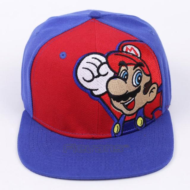 bedc2f10624 Super Mario Bros Fashion Sun Hat Mario  Mushroom Casual Cosplay Baseball Cap  Hip Hop Snapback Caps for Men Women