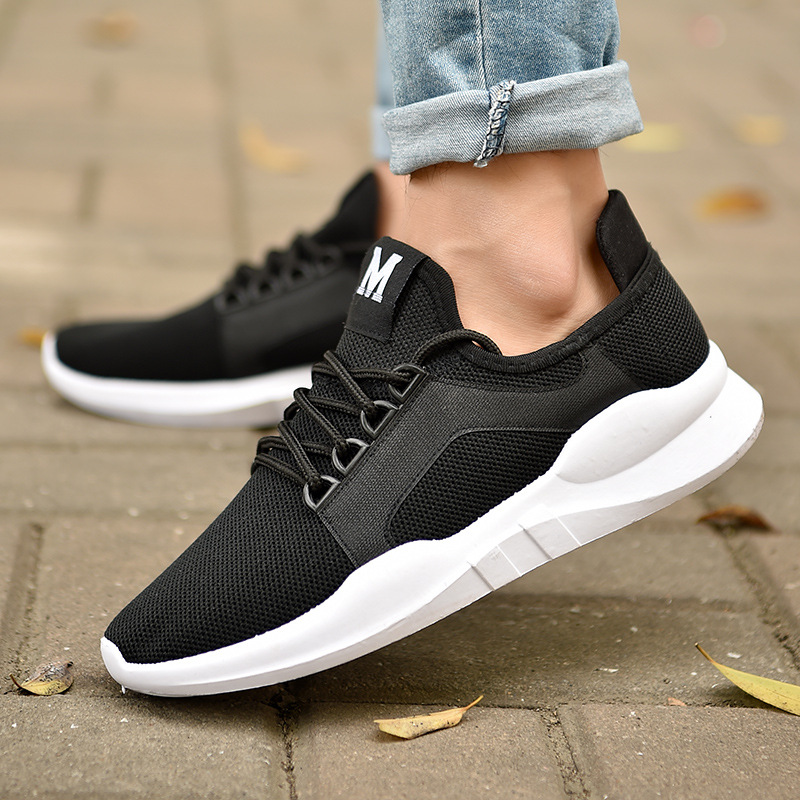 White Black Sneakers Women Casual Shoes Air Mesh Fashion Lace up Ladies Summer Shoes Footwear Flat Women Vulcanize Shoes DC150