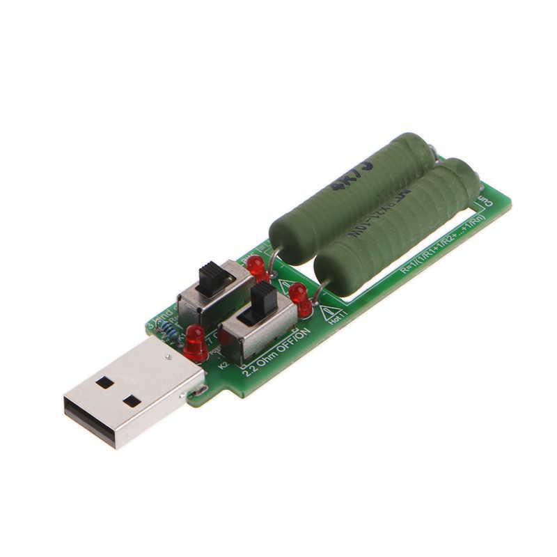 Nouveau 2019 USB résistance charge électronique avec interrupteur réglable 3 courant 5V résistance testeur offre spéciale