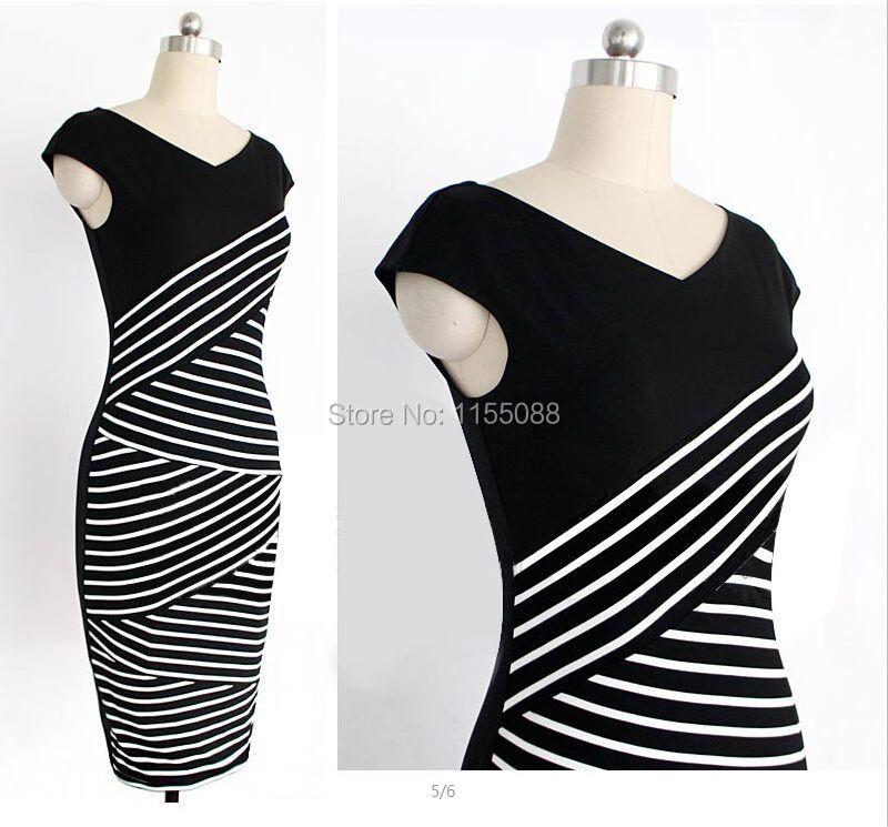 50pcs/lot  Nice Women Summer Dress 2016 Sexy Hip Stripe Pencil Dress Casual Long Dress Party Maxi Dress