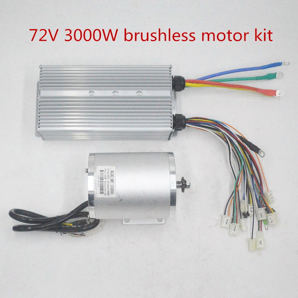 Bike 72V <font><b>3000W</b></font> <font><b>Brushless</b></font> <font><b>Motor</b></font> BLDC <font><b>motor</b></font> with Controller For Electric Scooter E bike E-Car Engine Motorcycle Part <font><b>motor</b></font> suit image