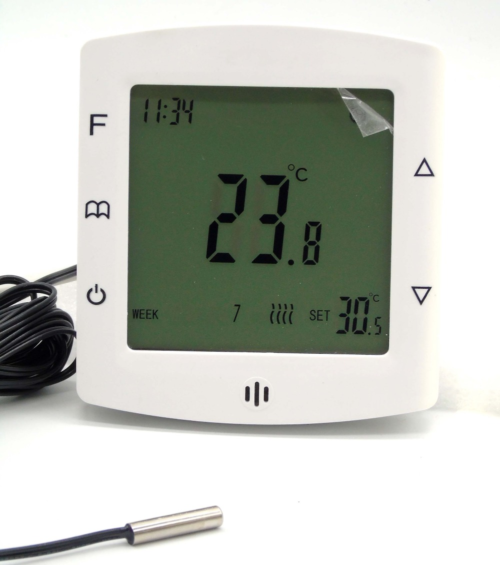 IEC Certification Programmable Floor Thermostat with Temperature Controller 7 24h programmable adjustable thermostat temperature control switch with child lock