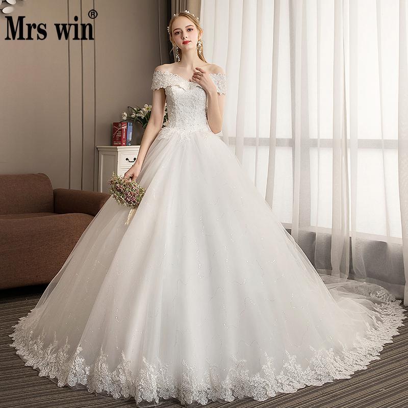 Mrs Win New Lace Wedding Dress 2019 Vestido De Noiva Off