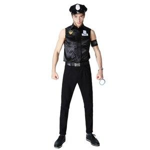 Image 3 - Kadın polis kostüm cadılar bayramı partisi siyah Policewomen polis üniforma polis memuru Cosplay süslü elbise