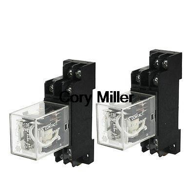 35mm Din Rail Socket DC 12V Coil Voltage DPDT Electromagnetic Relay 10A ноутбук dell vostro 5468 14 1366x768 intel core i3 6006u 5468 1083