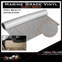30cm x 139cm Light Grey Faux Leather Upholstery Car Seat Inner Flex Durability Vinyl Fabric|Sound & Heat Insulation Cotton| |  -