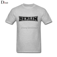 Berlin Germany Flag Logo T Shirt Men Male Awesome Short Sleeve Thanksgiving Day Custom Big Size