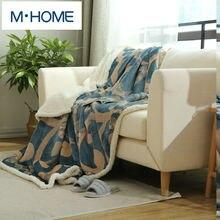 Nueva Impresión Bereber de lana Manta engrosamiento de la capa doble de invierno de franela manta sofá manta sábana de lana coral