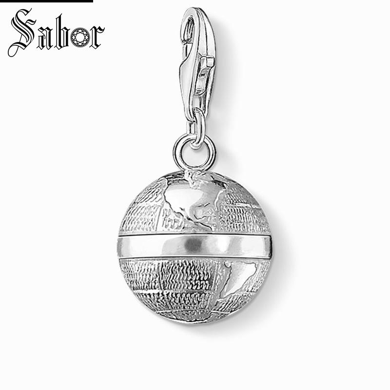 Jewelry Sets & More Jewelry & Accessories Selfless Thomas Gray Globe Charm Pendant,europe Jewelry For Women Men,2019 Womens Gift 925 Sterling Silver Fit Bracelet Jewellery Charms A Wide Selection Of Colours And Designs