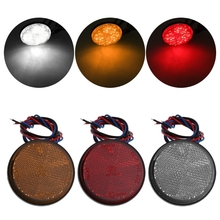 Car Motorcycle Round 24 LED Universal Marker Reflector Brake Rear Tail Light Car Light Auto Lamps
