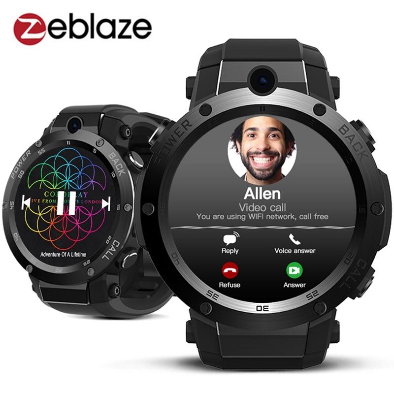 Auf Lager Zeblaze THOR S 3G Smartwatch GPS WIFI 5MP Kamera lautsprecher Sim-karte Anruf Antwort Herzfrequenz Fitness Smart Uhr Mann frauen