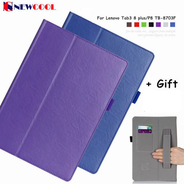 Tab3 8 plus P8 Magntic Flip Cover Leather Case For Lenovo Tab3 8 plus/P8 TB-8703F Tablet Case Protective shell smart cover print flower pu leather case for lenovo p8 tab3 tab 3 8 plus tb 8703f n 8 0 inch tablet protective stand cover funda capa