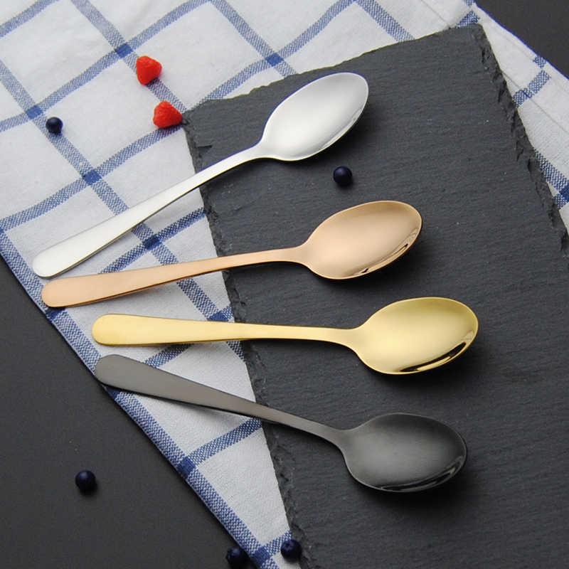 Hoge Kwaliteit Zilver Theelepels Roestvrij Staal Dessert Thee Lepel Picknick Keuken Accessoires Thee Lepel Mengen Lepel Voor Thee
