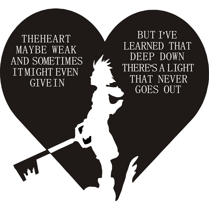 Video Game Kingdom Hearts Kingdom hearts sora quote Hoodies ...