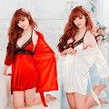 -Estilo japonês Mulheres Menina Dançando Lingerie Sexy Camisola Pijamas Mulheres Lingerie Arnês Vestido Roupões Camisola casaco