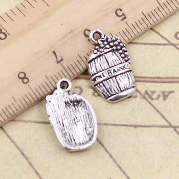 20pcs Charms Wine Barrel Cask 19x11mm Tibetan Silver Color Pendants Antique Jewelry Making DIY Handmade Craft image