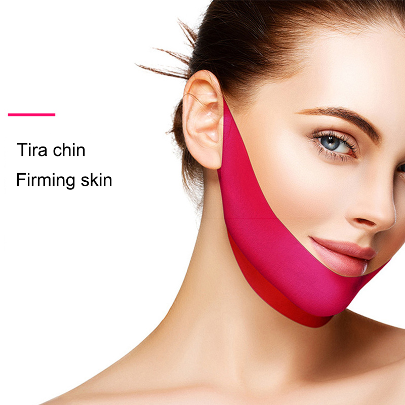 1/2 Pcs V-Shaped Slimming Face Mask Whitening Moisturizing Face Firming Mask MH88(China)