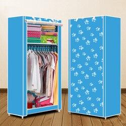 Нетканый шкаф сочетание общий Простой корейский гардероб единый шкаф пыленепроницаемый небольшого гардероба пыли