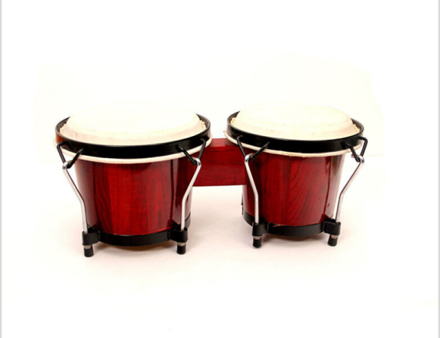 African Bongo Drum with Cowhide Leather Top