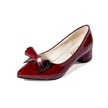 Bombas de las mujeres Sexy Punta estrecha de Cuero de Microfibra de Alta Tacones Zapatos Mujer Zapatos Mujer Tacon Bowknot de tacón alto Zapatos de tacón de Aguja