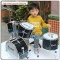 2-8 Ano Crianças Drum Kit Música brinquedos Realmente Instrumentos Musicais Bateria Iniciante de Natal presente de aniversário