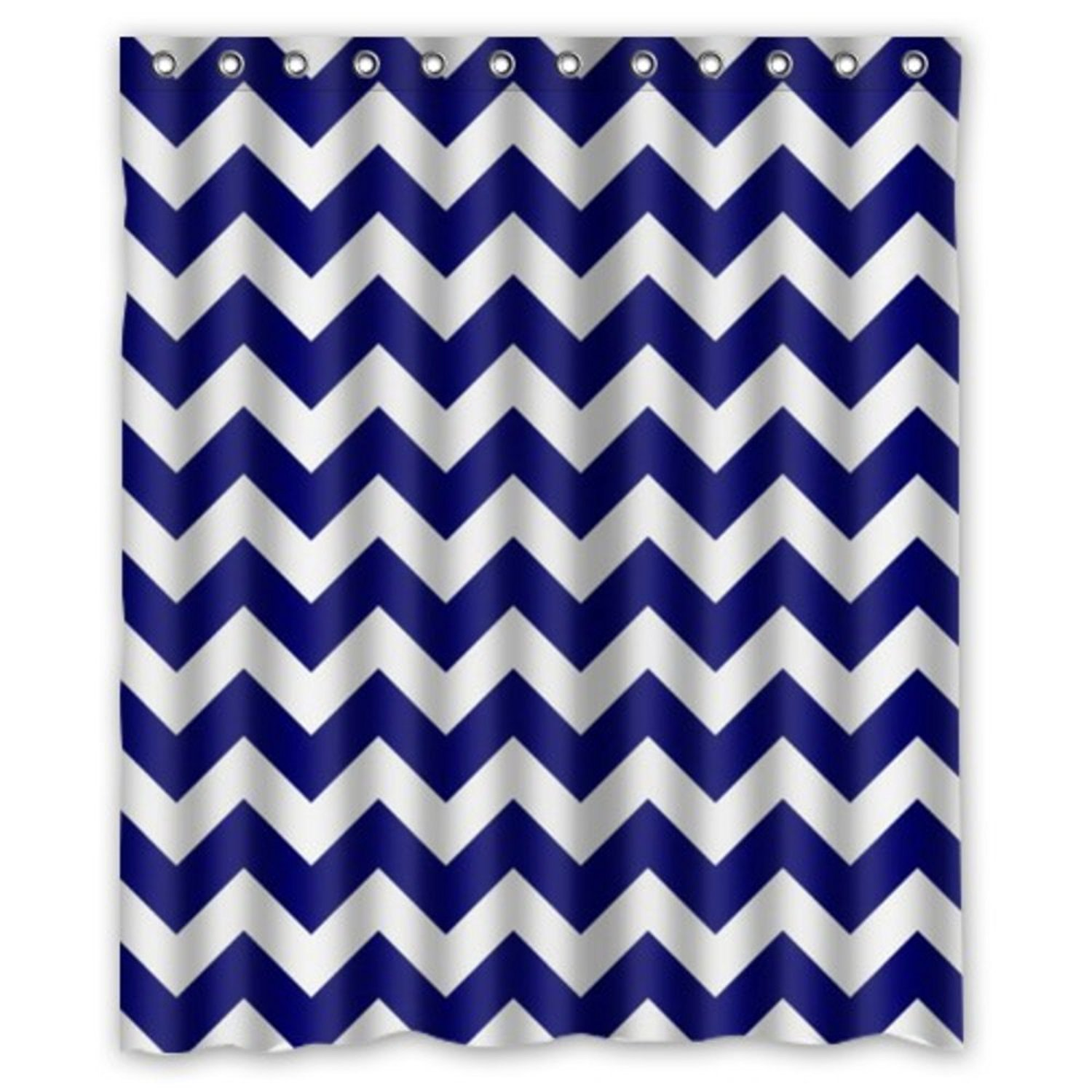 Personalized Bathroom Decor Chevron Pattern Blue Pattern Shower Curtain waterproof Polyester Fabric Shower Curtain Super
