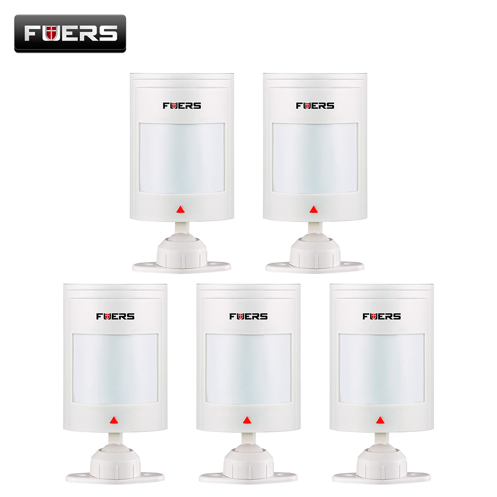 Fuers 5pcs Wired PIR Sensor For GSM PSTN Home Alarm System Wired Infrared Motion Sensor Infrared Alarm Detector