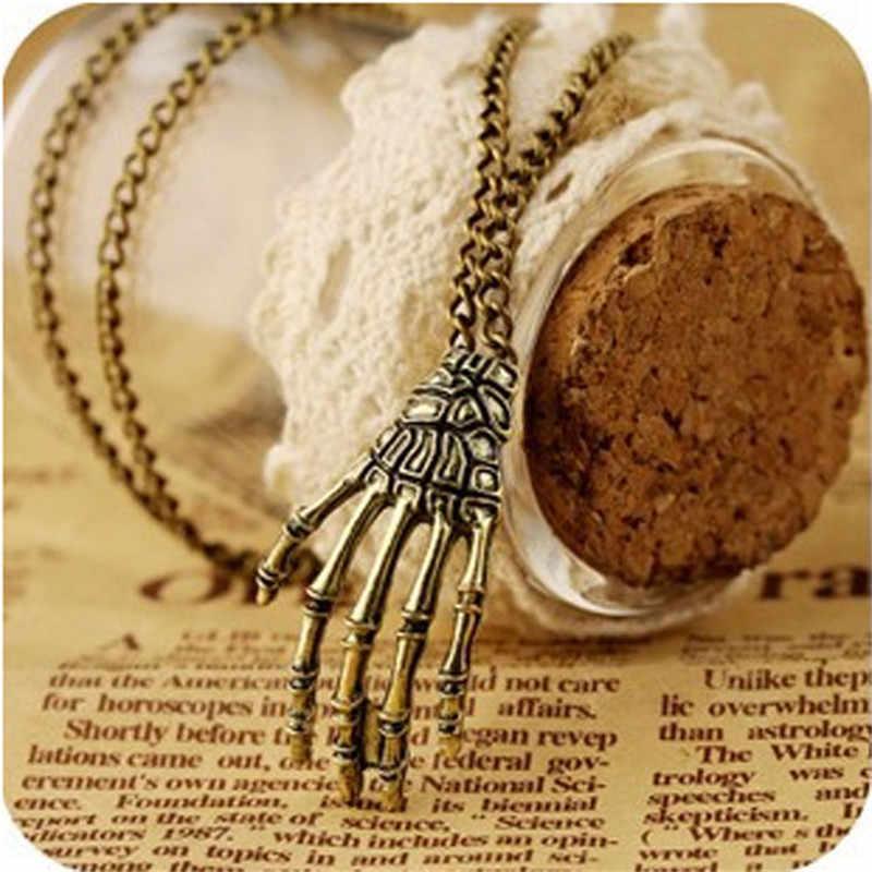 مجوهرات أنيقة للنساء الرجال سلسلة بنات خمر الشرير القوطية الجمجمة أسورة يد سلسلة طويلة قلادة نمط Lothes colana دونا