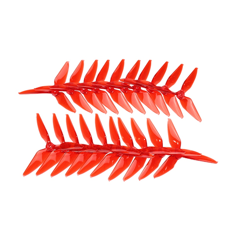 High Quality 10 Pairs Kingkong 5051 Single Color 3-blade CW CCW Propeller 5.0mm Mounting Hole 203*152*77mm for FPV Racer Parts