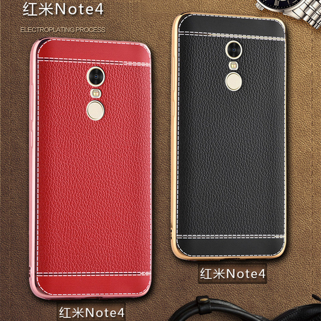 Luxury Leather Pattern back cover coque case for Redmi 4 4X Note 2 3 4 5A original phone cases For Xiaomi 5/5S 5S plus/6 6plus