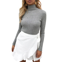 2018 Autumn Winter Women Sweaters And Pullovers Fashion Turtleneck Sweater Slim Pullover