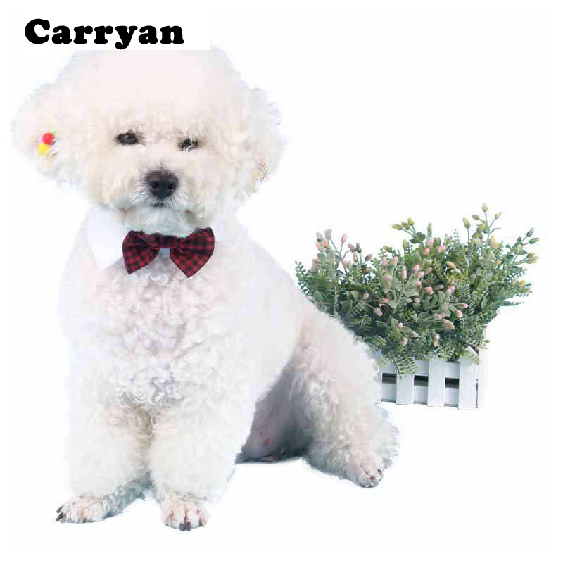 Hot Sales Pet Supplies Red Colors Cats Dog Tie Wedding Accessories Dogs Bowtie Collar Ho ...
