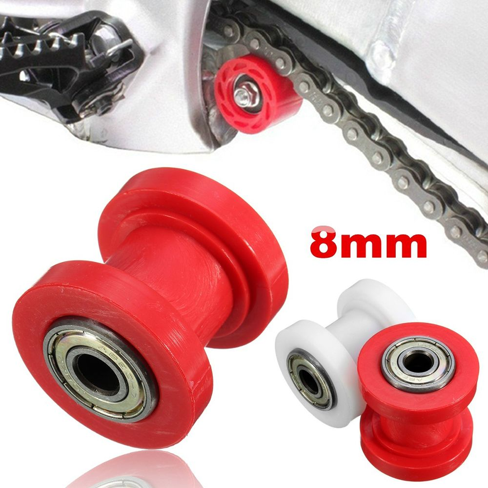 Chain Pulley Tensioner 8mm Pulley Roller Black Chain Tensioner Roller Wheel Guide for Motorized Pit Bike Motorcycle