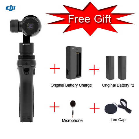 Free Gift ! DJI OSMO Handheld Gimble 4K Camera With Gift FM-15 Flexi Microphone and Stabilizer Original phantom 3 3-Axis Gimbal