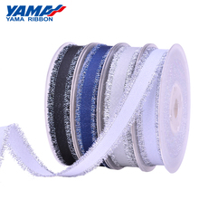 YAMA 16mm 25mm 38mm Fashion Silver Purl Grosgrain Fringe Golden Ribbon 6 Colors 100Yards/Roll Craft Diy Packing Gifts Wedding