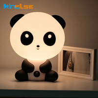 New EU Plug Baby Bedroom Lamps Night Light Cartoon Pets Rabbit Panda PVC Plastic Sleep Led
