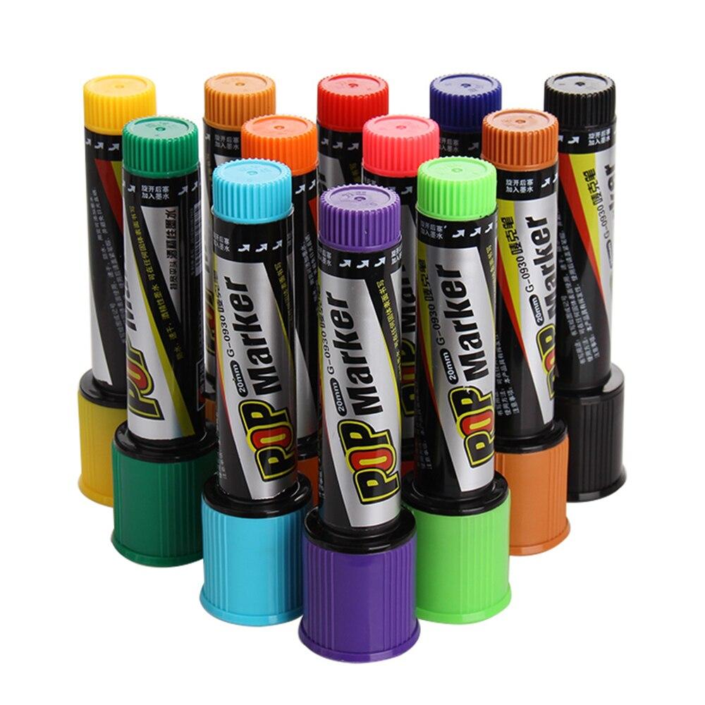 lifemaster-genvana-pop-marker-30mm-flat-tip-pen-for-poster-advertising-promotion-pen-school-office-supplies