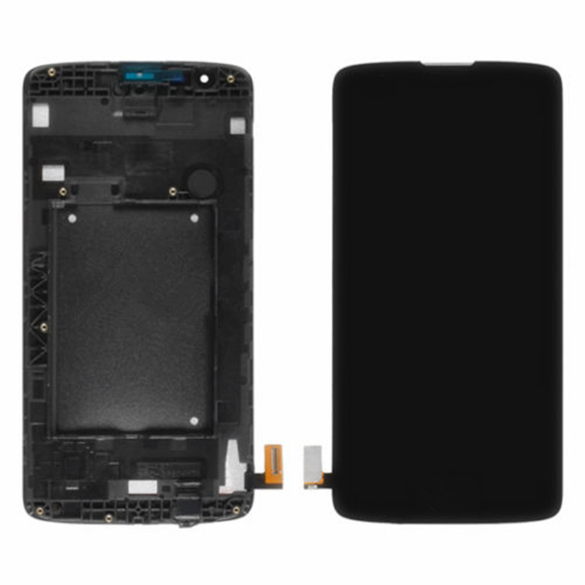 Black white New LCD Display Digitizer Touch Screen Assembly with Frame For LG K8 LTE K350N K350E free shipping new lcd touch screen digitizer with frame assembly for lg google nexus 5 d820 d821 free shipping