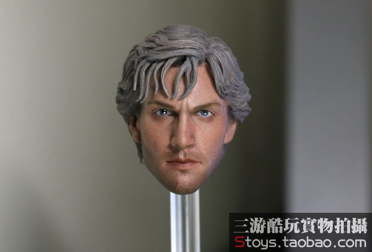 1/6 scale figure doll head shape for 12Action figure doll accessories Avengers: Age of Ultron Quicksilver head.not include body 1 6 scale figure head shape for 12 action figure doll rise of the planet of the apes caesar doll head for figure accessories