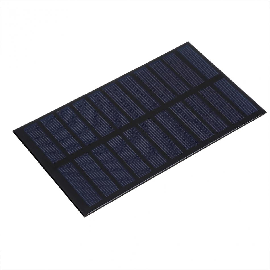 1.6W 5.5V Solar Panel Mini Polycrystalline Solar Panel for DIY Solar Light Phone Battery Charger Small Cell Charger