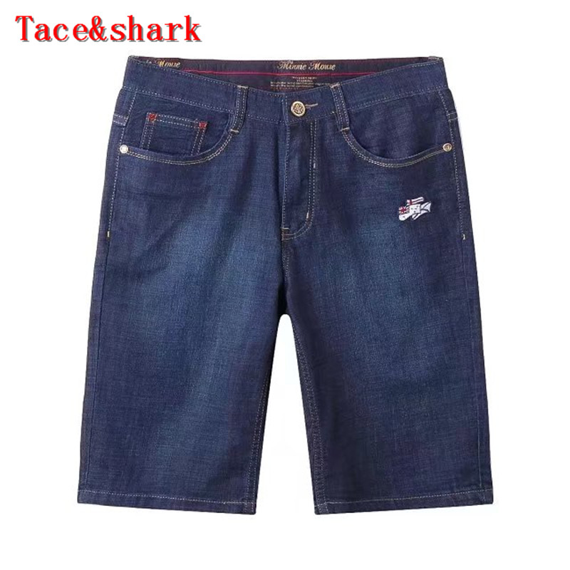 Jeans man Brand clothing Tace&shark Jeans pants five Mens 2017 summer New England simple lumbar embroidery leisure code