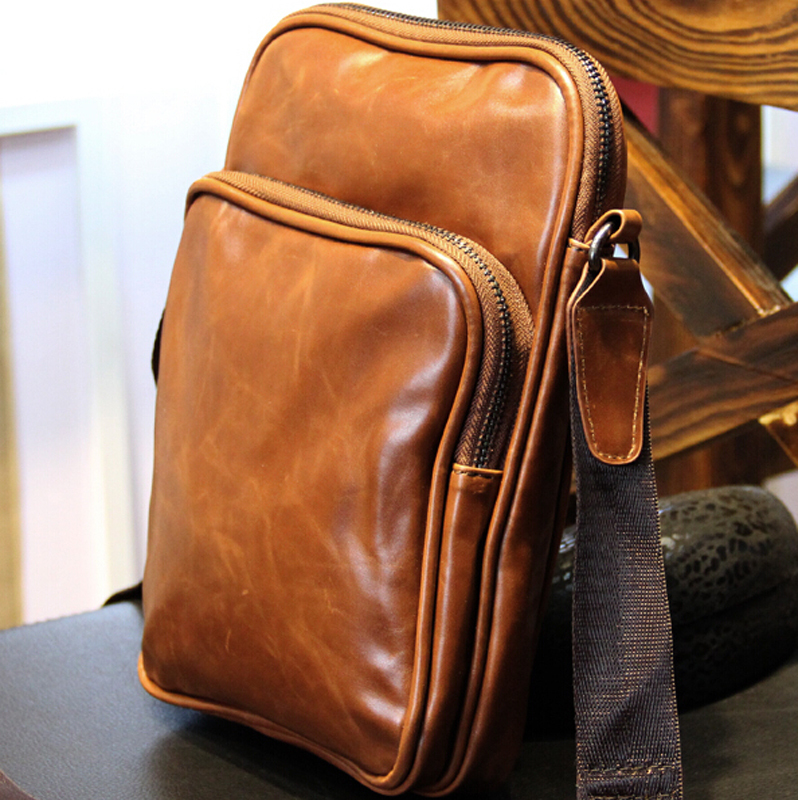 2018 New Men Messenger Bags leather Vintage Bag Men Shoulder Crossbody Bags for Man Brown Black Small Bag Designer Handbags