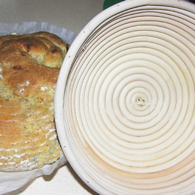Panier de rangement du pain en osier | Pain en osier, panier de rangement des aliments, Banneton brochette en rotin montant, doublure, plateau à fruits ovale, organisateur en rotin à la maison