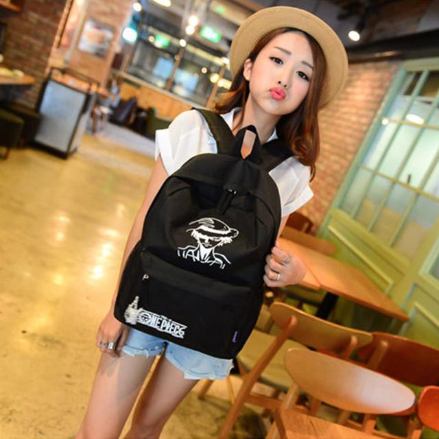 One Piece Luffy School Bags Backpack Shoulder Bag
