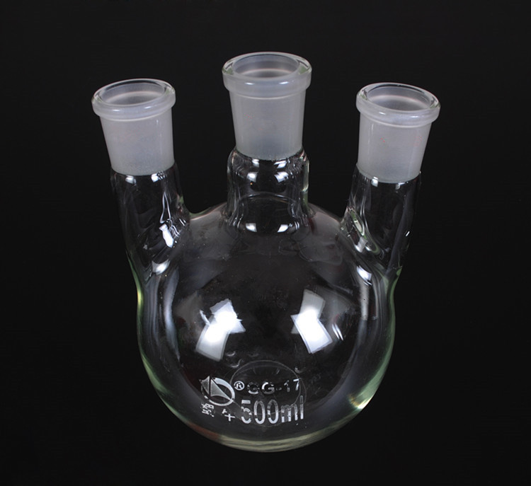Hot sale 50*24*2 JOINT 3-neck Round Bottom STRAIGHT NECKS Flask Lab Glassware 3000ml 14 3 joint 3 neck round bottom obligue necks flask lab glassware