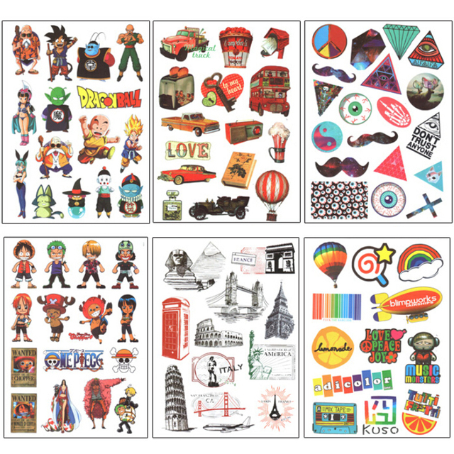 vintage travel stickers and decals for suitcases retro anime luggage