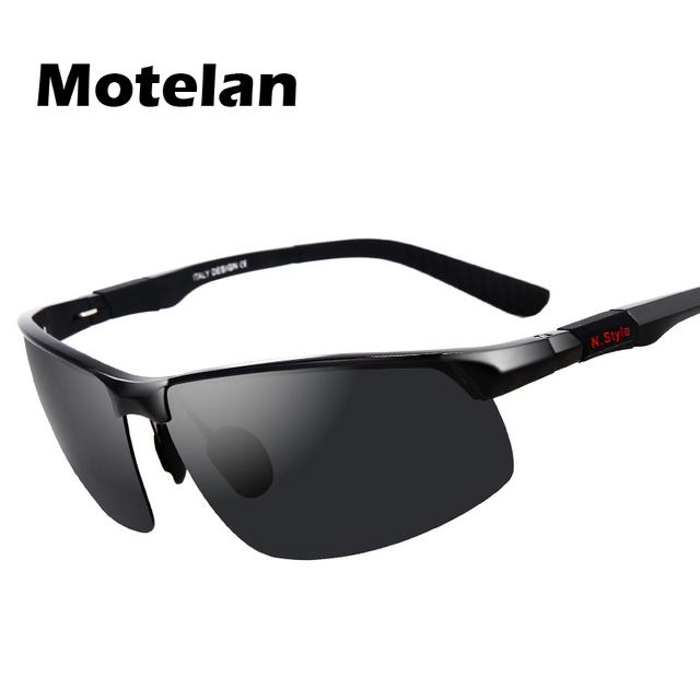 2016 Mens Polarized Semi-Aro de Alumínio Óculos de Sol Óculos de Condução Ao Ar Livre Esportes Óculos Polarizados Óculos de Proteção Óculos Óculos de Proteção Óculos de Sol