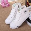 Kids Shoes Для Девочек Классический Весенние Дети Холст Shoes Высокий Верх Lace-up Марка Дети Shoes Мальчики Подростки Размер 25-39